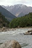 White water of Ganga. Ganga in the beginning in the Northern part of India Stock Image
