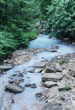 White water with hydrogen sulphide. In Agura River near the city of Sochi in Russia Stock Photography
