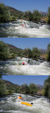 White water kayak race Stock Photo