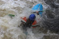 White water kayaker Stock Photos