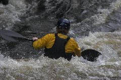 White water kayaking Stock Images