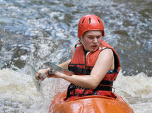 White water kayaking Stock Photo