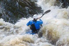 White Water Kayaking Royalty Free Stock Photos