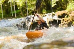 White Water Kayaking Royalty Free Stock Image