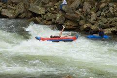 White water kayaking Stock Image