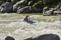 White water Kayaking Zamora Ecuador Stock Photography