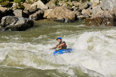 White water Kayaking Zamora Ecuador Royalty Free Stock Image