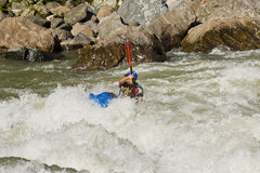 White water Kayaking Zamora Ecuador Royalty Free Stock Photo