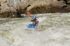 White water Kayaking Zamora Ecuador Royalty Free Stock Photos