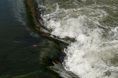 White water on the Kennet and Avon Canal Royalty Free Stock Photos