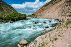 White water in Kyrgyzstan - Kekemeren river Stock Photography