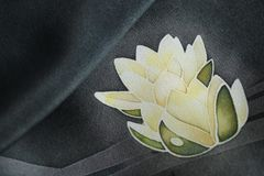 White water lilies vector illustration