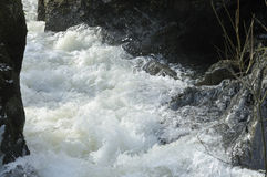 White Water on the Marteg River Royalty Free Stock Photos