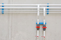 White water pipes Stock Images