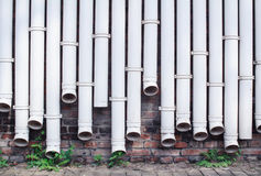 White water pipes. As wall Royalty Free Stock Images