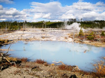 White water pool in Yellowstone. White water pool in Norris Geyser Basin, Yellowstone National Park (Wyoming, USA Royalty Free Stock Photo
