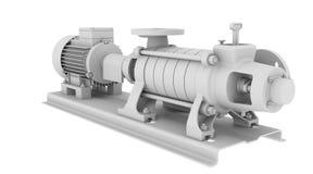 White water pump vector illustration