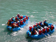 White water rafting stock image