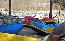 White Water Rafting Boats Royalty Free Stock Photo