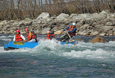 White Water Rafting in India Royalty Free Stock Image