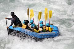 Free White Water Rafting On The Rapids Of River Stock Image - 123503771