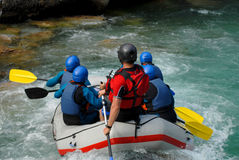 White water rafting on the rapids Royalty Free Stock Photo