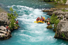 White water rafting on the rapids of river Manavgat Royalty Free Stock Photography