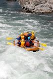 White water rafting on the rapids of river Yosino Royalty Free Stock Photos