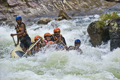 White water rafting in Sri Lanka Royalty Free Stock Photography
