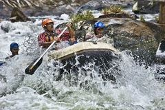 White water rafting in Sri Lanka Royalty Free Stock Photo