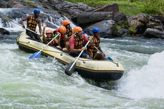 White water rafting in Sri Lanka Stock Image