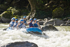 White water rafting Zamora Ecuador Royalty Free Stock Images