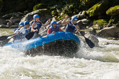 White water rafting Zamora Ecuador Stock Photos