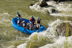 White water rafting Zamora Ecuador Stock Photography