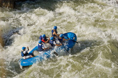 White water rafting Zamora Ecuador Stock Images