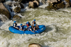 White water rafting Zamora Ecuador Stock Photo