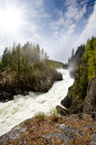 White Water Rapids. A nature landscape of river rapids in Norway Royalty Free Stock Photos
