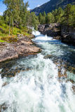 White water on river in Norway Royalty Free Stock Photography