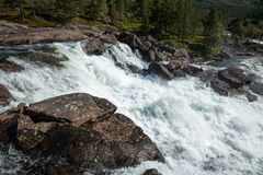 White water on a river in Norway Stock Image