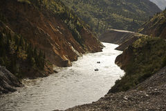 White Water River Rafting in Alaska Stock Images