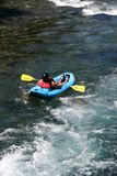 White water river rafting float tube Stock Images