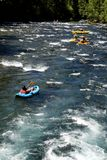 White water river rafting float tube Royalty Free Stock Photo