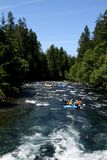 White water river rafting group Royalty Free Stock Image