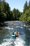 White water river rafting group Stock Photo