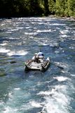 White water river rafting pontoon Stock Photography