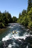 White water river rafting Stock Images