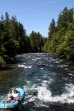 White water river rafting Stock Photo