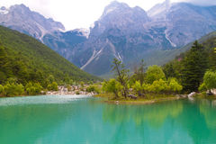 White Water River scenery at Lijiang China Royalty Free Stock Images