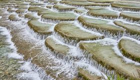 White Water River terraces in Blue Moon Valley, China. White Water River terraces in Blue Moon Valley, Jade Dragon Snow Mountain, Lijiang, China Royalty Free Stock Photo