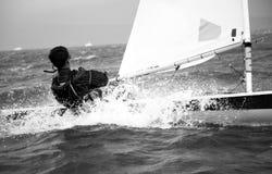 White water sailing Stock Photos